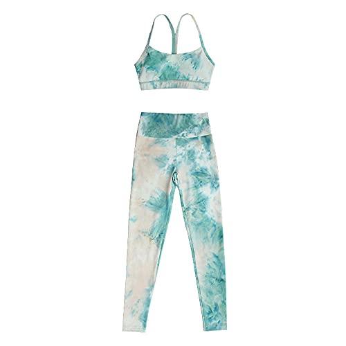 qqff Sin Costuras Push Pantalones Largos,Traje de Dos Piezas de Ropa de Entrenamiento de Fitness para Correr para Mujer,Ropa de Fiesta-Set_XL,Danza Conjunto Yoga Ropa Fitness