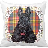 Little tartan Scottie Dog Pillow case 45,7cm 45,7cm