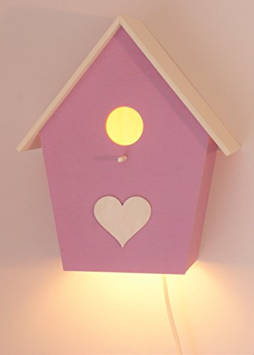 Kinderlampe Vogelhauslampe Handbemalt