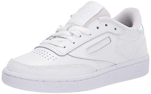 Reebok womens Club C Sneaker, White/Black, 8.5 US