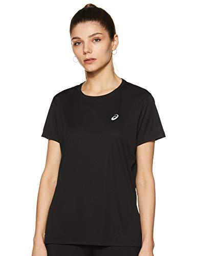 ASICS Unisex Silver Ss Top T-Shirt, Performance Black, L