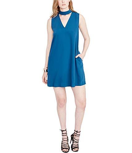 RACHEL Rachel Roy Choker Shift Dress (Teal, M) (Apparel)