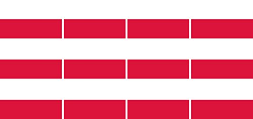 Mini Aufkleber Set - Pack glatt - 50x31mm - Sticker - Polen - Flagge - Banner - Standarte fürs Auto, Büro, zu Hause & die Schule - 12 Stück
