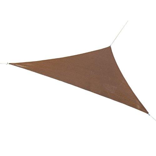 Coolaroo Ready-to-Hang Triangle Shade Sail Canopy, Mocha, 13 Feet