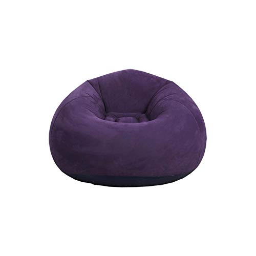 ZHANGLI Bean Bag Chair - Foldable Flocking Inflatable Sofa - Living Room Outdoor Bean Bag Chair Lounger Ultra Soft Inflatable Lazy Sofa Couch