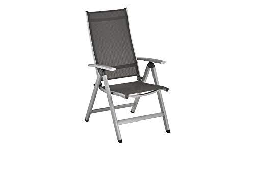 Kettler Easy multifunctionele stoel, zilver/antraciet, aluminium/textileen, 0311501-0010