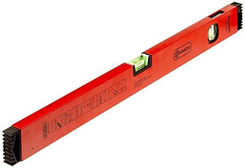 Connex COX737060 Wasserwaage 60 cm, Aluminium-Hohlprofil mit 2 Magneten, Rot/schwarz