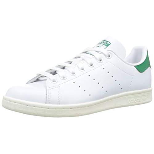adidas Stan Smith, Scarpe da Ginnastica Uomo, Bianco (Ftwr White/off White/Bold Green Ftwr White/off White/Bold Green), 46 EU