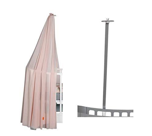 Leander Cadre de lit pour lit de bébé Leander + ciel de lit (voile) rose doux