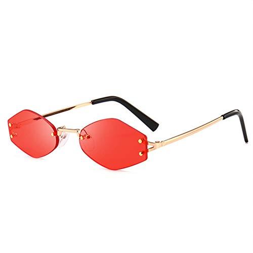 Chudanba Kaleidoskop Brille Katzenauge Sonnenbrille Frauen Kleine Objektivlinse Rote Sonnenbrille Frauen Eyewear,rot