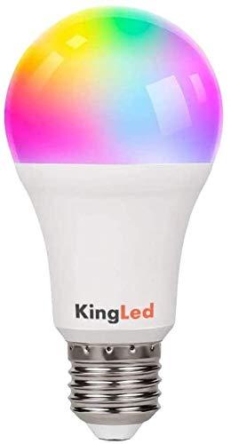 Kingled – Lampadina E27 WiFi – Bulbo Led A70 Attacco E27 11W 1050lm RGB+CCT - Smart WiFi Compatibile con Alexa, Google e Smartphone