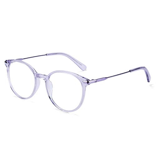ZENOTTIC Round Optical Glasses Transparent Frame Clear Lens Eyewear Non-prescription Eyeglasses for Women