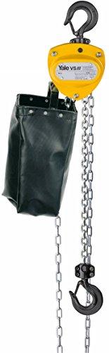 Yale amz1021136Cadena de cadena de mano con bolsa, vsiii único, descenso, 2000kg, 6m