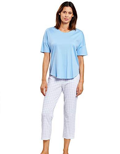 Rösch Damen Schlafanzug mit grafischem Minimalprint - Smart Casual Ivonne, 1203084 42 Graphic Minimal