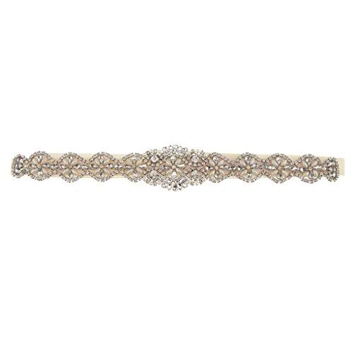 Sharplace Antiguo Cinturón de Lazo con Perlas Flor Artificial Vestido de Novia...