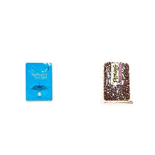 [2点セット] ひのき炭黒泉 スパウォーターフェイスマスク(18ml×3枚入)・小豆のとっかん(150g)