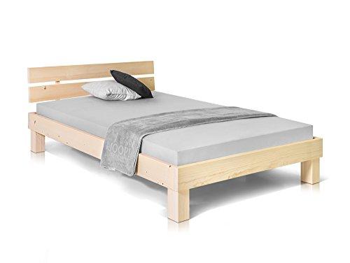 Massivholzbett Pumba Holzbett Doppelbett, Material Massivholz, Made in Germany, 120x200 cm, Natur