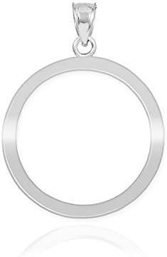 14k White Gold Circle of Limited time cheap sale Pendant Cheap Life Karma Charm