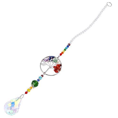 Yardwe - Lámpara colgante de cristal para colgar prismas de cristal