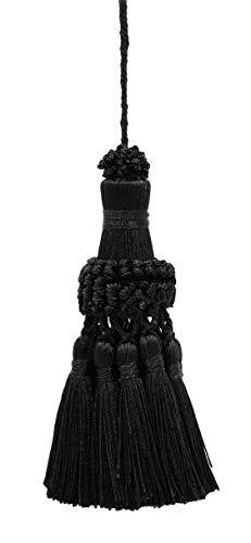 DecoPro Noir élégant Key Tassel/38 cm de Long Tassel, 76 cm de Propagation (Embrace) Style # NKT – Onyx K9