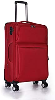 GLJJQMY Luggage Trolley Luggage Universal Wheel Lock Password Box Trolley case (Color : Red, Size : 24 inch)
