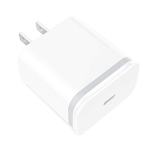Fast PD Charger USB C Plug 18W, LUOATIP Phone Type C Wall Charger Block Cube Power Delivery Adapter Compatible with iPhone 11 Pro Xs Max XR X 10 8 Plus iPad AirPods Pro Google Pixel 3/2/XL, Samsung