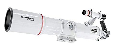 Bresser Refractor Messier AR-90s/500 - Telescopio de Montaje de Tubo óptico, Color Blanco
