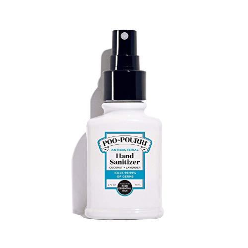 Poo-Pourri Antibacterial Hand Sanitizer Spray, Coconut Lavender Scent, 2 Fl Oz