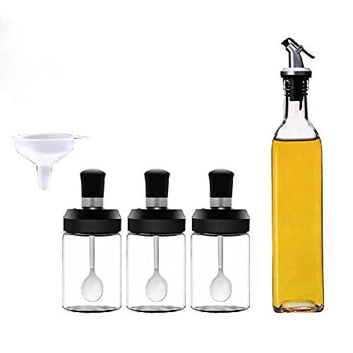 ARCH Botella de condimento de cristal, dispensador de aceite de oliva, botella de aceite de oliva de tarros de especias para el hogar