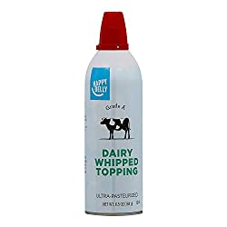 Amazon Brand - Happy Belly Dairy Whipped Topping, Ultra-Pasteurized, Kosher, 6.5 Ounces