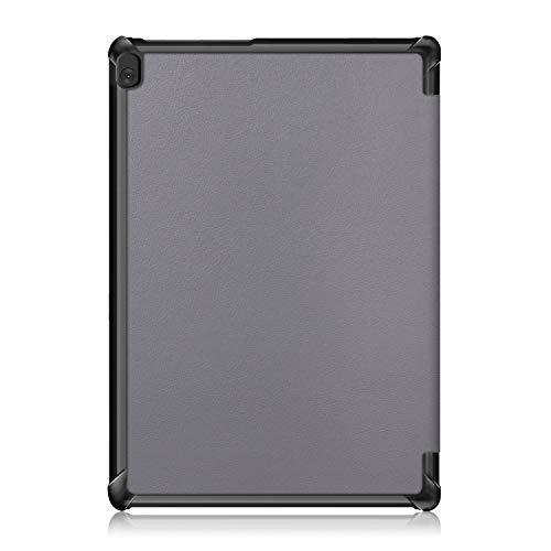XITODA Hülle Kompatibel mit Lenovo Tab M10 TB-X605/TB-X505,PU Leder Tasche mit Stand Funktion Schutzhülle für Lenovo Tab M10 TB-X605F/L TB-X505F/L Case Cover,grau