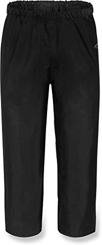normani Kinder Regenhose Unisex für Jungen und Mädchen mit warmem, weichem Fleecefutter - Wassersäule 5000 mm Farbe Dunkelschwarz Größe L/146-152