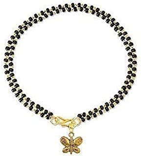 The Bling Stores Women's Resin Gold-Plated Brass Copper Onyx Charms Fashions Hand Mangalsutra Bracelets (Multicolour, Brown)