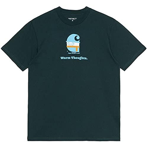 Carhartt WIP(カーハート ワークインプログレス) Warm Thoughts S/S Tee ワームソーツ レギュラー フィット 半袖 Tシャツ Frasier Green グリーン (L)
