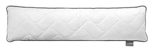 Traumnacht TopCool Seitenschläfer-/ Still-/ Schwangerschaftskissen, mit atmungsaktiver TopCool Funktionsfaser, 40 x 145 cm, Weiß