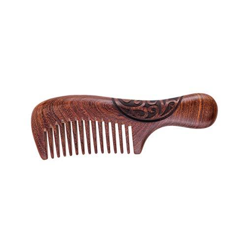 HEALLILY Brosse à Cheveux en Bois de Santal Anti Statique Palette Bois Brosse à Cheveux Démêlant Brosse à Cheveux Cuir Chevelu Massage Peigne pour Femmes Lady Filles (Style 2)