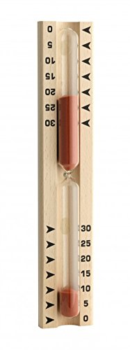 Sauna-Sanduhr Buche, Sand-rot Druck-schwarz, FE-NEUTR