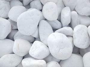 saco de 1 kg Piedras de m/ármol blanco de Carrara para decoraci/ón de jard/ín varios tama/ños
