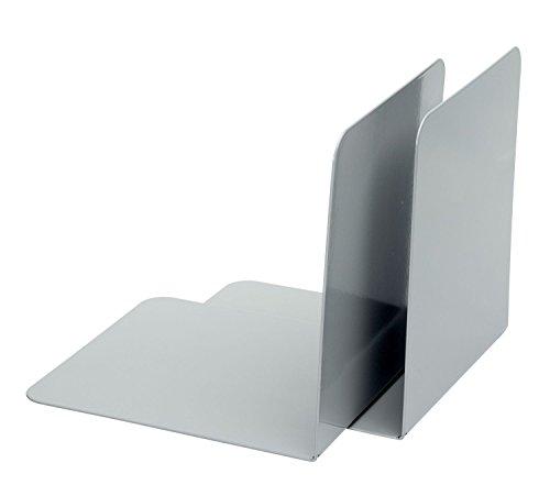 Alco 4302-29 - Reggilibro in metallo, 130 x 140 x 140 mm, 2 pezzi, colore: Grigio