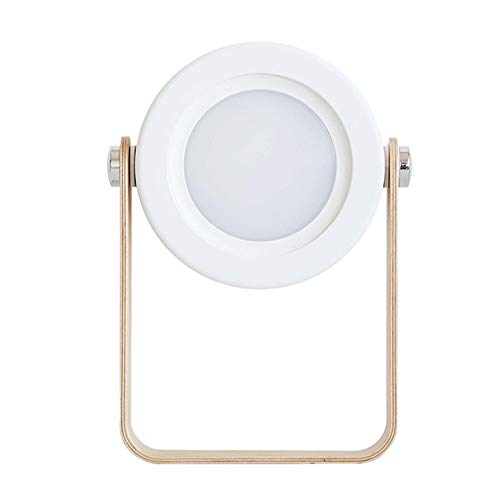 Tafellampen ZWRY Draagbare 2w Hanglamp Draadloze Tafellamp Nachtlampje Vouw Verstelbaar Dimbaar Houten Tafel Nacht Led Met Usb Opladen 19,4 * 3,7 * 14,2 cm Wit