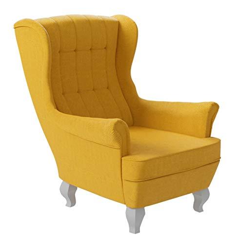 Mirjan24 Polstersessel Windsor, Ohrensessel, Sessel im englischen Stil, Ohrenbackensessel, Fernsehersessel (Tunis 2329)
