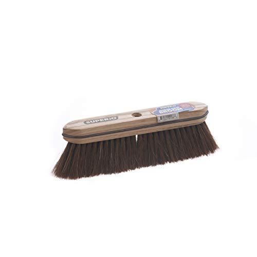 Superio Home Horsehair Broom Refill Head, Fine Premium Bristles - Heavy Duty Household Broom Easy Swiping Dust and Wisp Floors and Corners (Refill Broom Head)