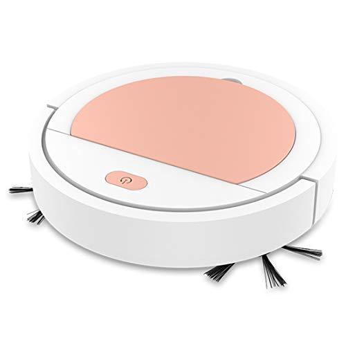 TAOXUE Robot Aspirador Fino, Sistema Anticolisión Y Sensor De Protección Anticaída, Especial para Pisos Duros Y La Limpieza De Pelos De Mascotas,Rosado