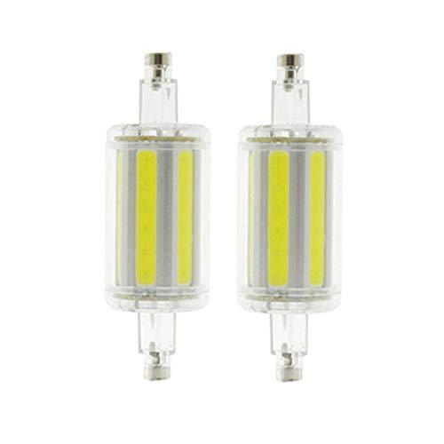 Bombillas LED R7S, Reflector De Bombillas De Doble Extremo 10W / 20 W R7S Ángulo De Haz De 360 Grados COB 85-265 (V), Paquete De 2,Warm White,78mm