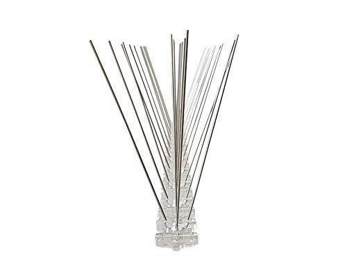 Taubenabwehr, 3 Reihen Spikes auf 50 cm Polycarbonatleiste, Taubenspikes, Vogelabwehr - DIREKT VOM Hersteller