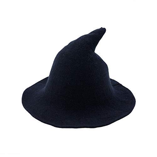 Zukmuk Sombrero de bruja unisex para disfraz de Halloween o Halloween, azul marino, Talla nica