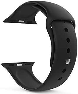 Apple Watch Kordon 42mm Siyah Silikon Markacase