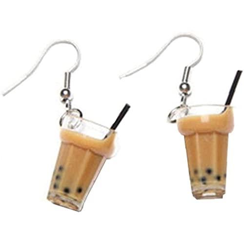 Ulyjcq 1 para Creativo Bubble Bubble Tea Colgante Colgante Personalidad Leche Leche Tea Pendientes de Bebidas adecuadas para niñas en Monstruos