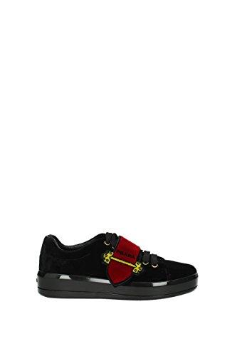 Prada Sneakers Damen - Samt (1E983HNERO) 37.5 EU