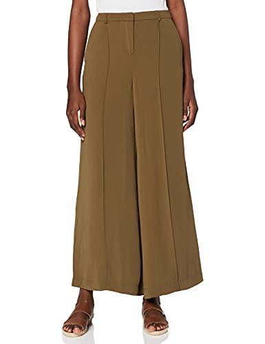 Amazon-Marke: find. Damen Weite Hosen, Grün (Grün (Khaki)), 44, Label: XXL